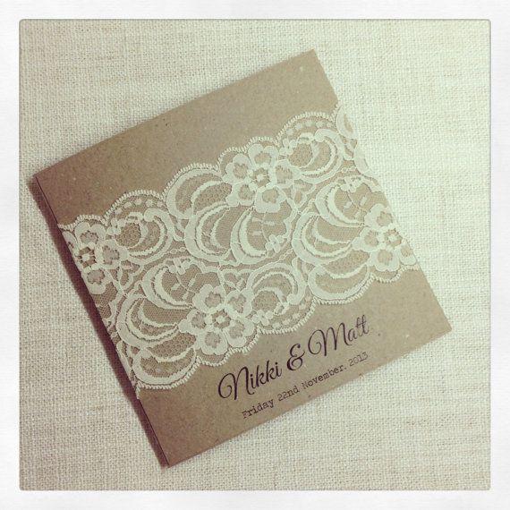 Rustic Wedding Invitation & response card  by StunningStationery, $300.00