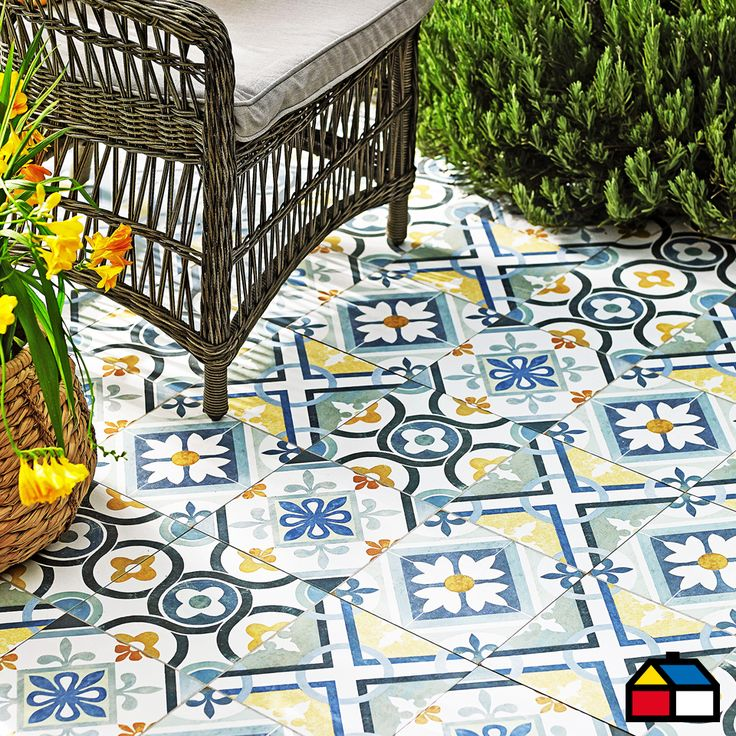 #Pisos #Muros #Cerámica #Hidráulicas #Flower #Azul