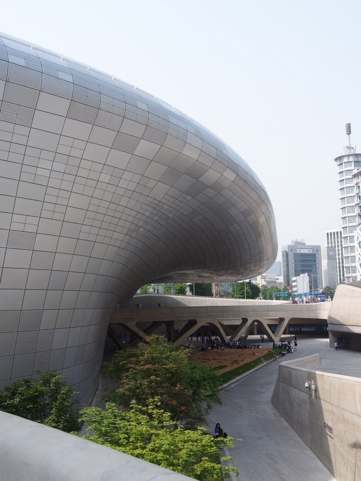 Snippet of Zaha Hadid's Dongdaemun Design Park and Plaza