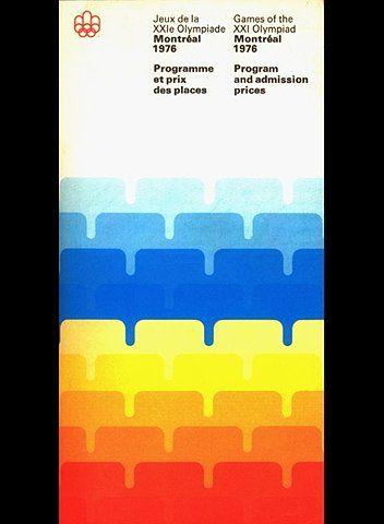 Montreal Olympic 76 program