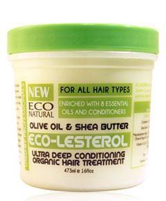 Eco Natural Eco-LESTEROL Olive Oil & Shea Butter. Ultra acondicionamiento profundo con Aceite de Oliva y manteca de Karité. www.rizadoafroymas.es