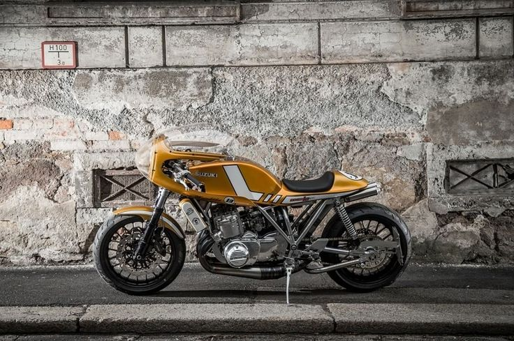"Suzuki GT 750 Cafe Racer ""Wasserbüffel"" #motorcycles #caferacer #motos 