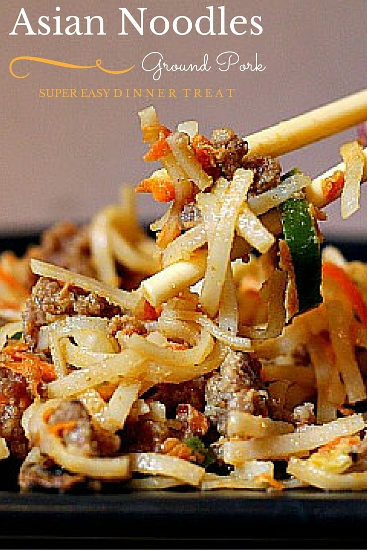Ready in about 30 minutes and packed with flavor, this is a great weeknight quick-fix meal. Simply fry up a pound of ground pork, boil some water for Pad Thai noodles, add some Asian flavors, shredded vegetables and you've got an addicting and amazing plate of noodles.