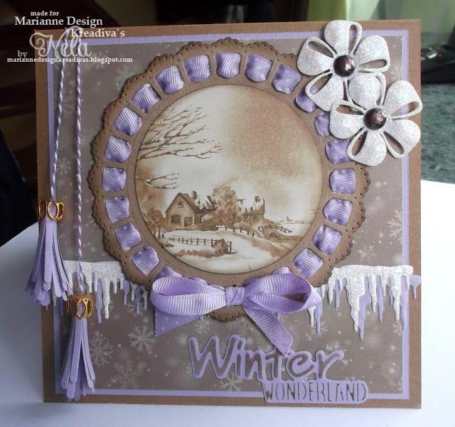 Nelasbasteleien: Winter Wonderland in Lila und Kraft