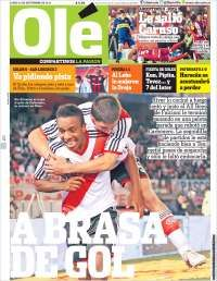 #PrimeraPlana Diario Olé de hoy lunes 23/09/13