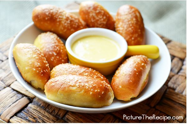 Mini Sausage stuffed pretzel bites: Super Bowl, Recipe, Sausage Stuffed, Pretzel Bites, Mini Sausage, Soft Pretzel, Stuffed Pretzels, Appetizer