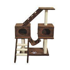 "43"" Scratching Climber Tower Condo Cat Tree"