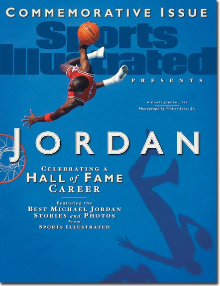 Michael Jordan, Basketball, Chicago Bulls |  Sports Illustrated Commemorative Edition cover SI.com Hall of Fame edition