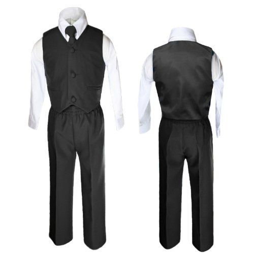 Unotux 4 Piece Formal Boys Black Vest Necktie Sets Suits From 0 Month to 7 Years (4T) Unotux http://www.amazon.com/dp/B00K5YF362/ref=cm_sw_r_pi_dp_l5PVtb1JGPPAMMA5