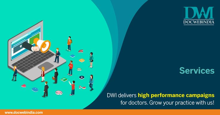 """#DWI helps Doctors to Reach More People with """"Appointments & Enquiries"""".  #DocWebIndia #DigitalMarketingAgency #DWIServices #DMforHealthCare"""