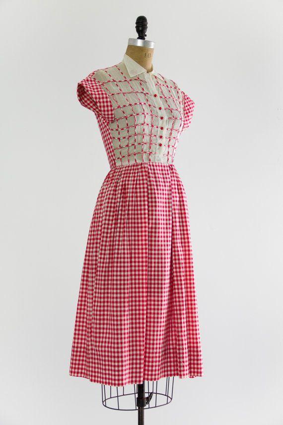 vintage anni 1930 abito da giorno vestito di di MoonRevival