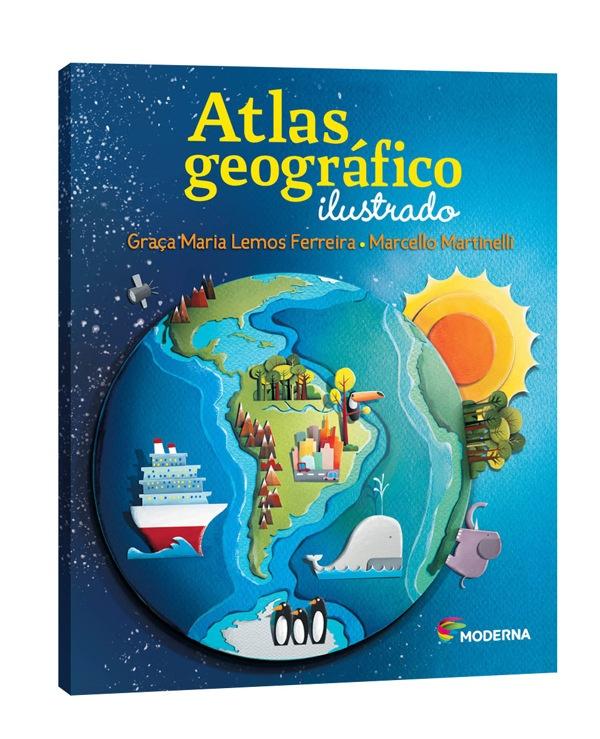 Capa Livro - Atlas Geografico by Flávia Dutra, via Behance