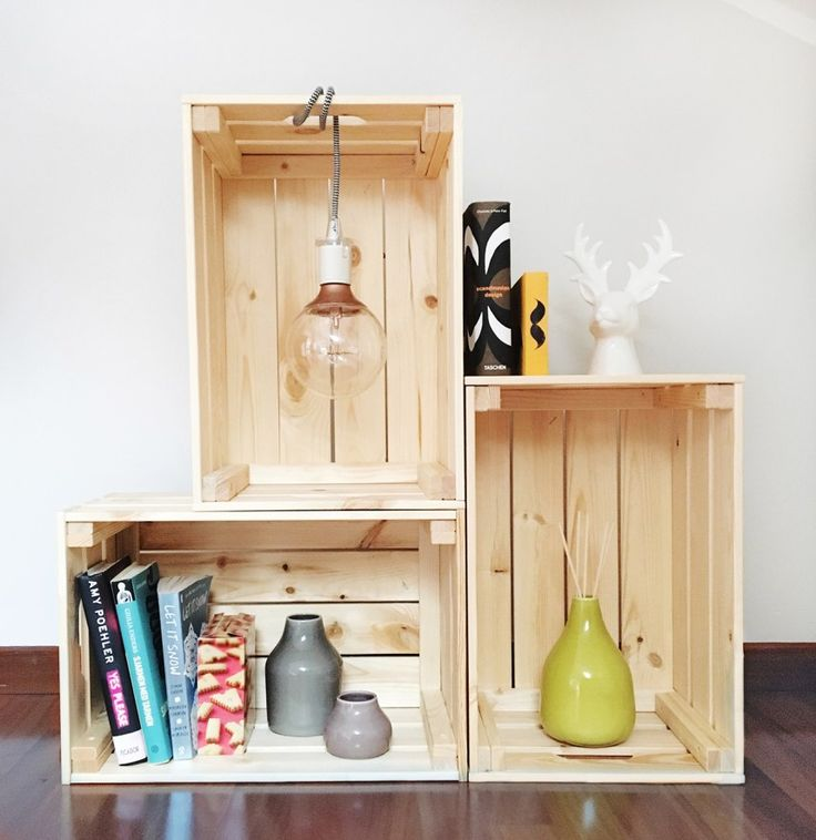 DIY // STORAGE WITH HANGING LIGHT BULB | thatscandinavianfeeling.com