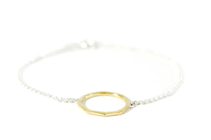circle bracelet brass and silver