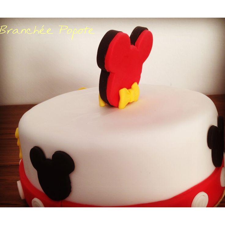 Gâteau Mickey – Anniversaire d'Anatole | Branchée Popote Cake design Gateau  Pate a sucre