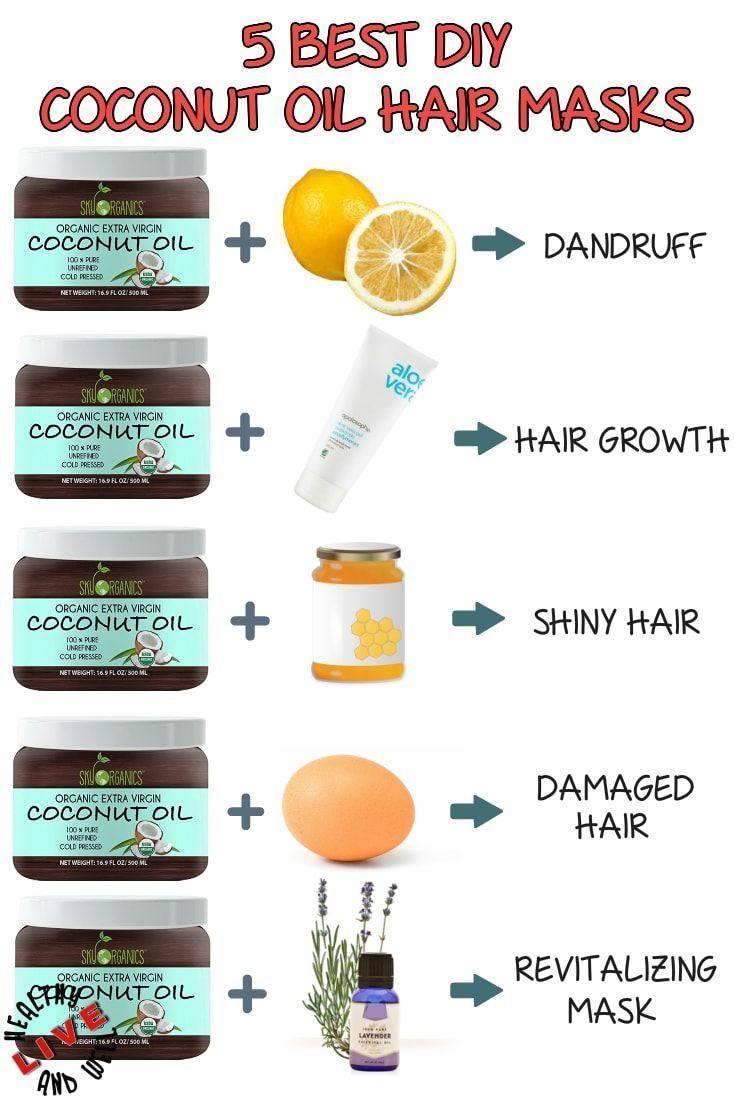 Top Best DIY Kokosöl Haarmasken für jedes Haarproblem