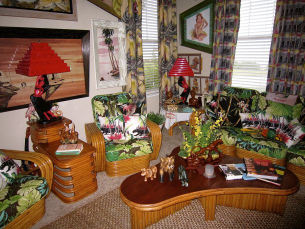 15 best images about rattan crap furniture on pinterest for Tiki room decor