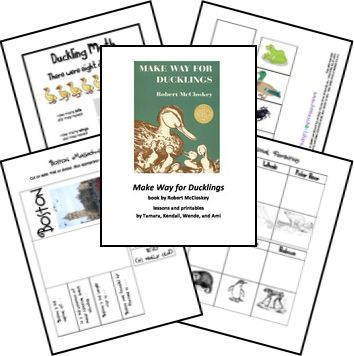 FREE Make Way for Ducklings Unit Study and Lapbook Printables    *Already downloaded* ~A