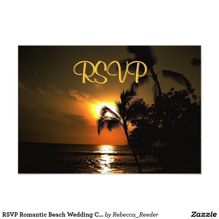 RSVP Romantic Beach Wedding Celebration Invite