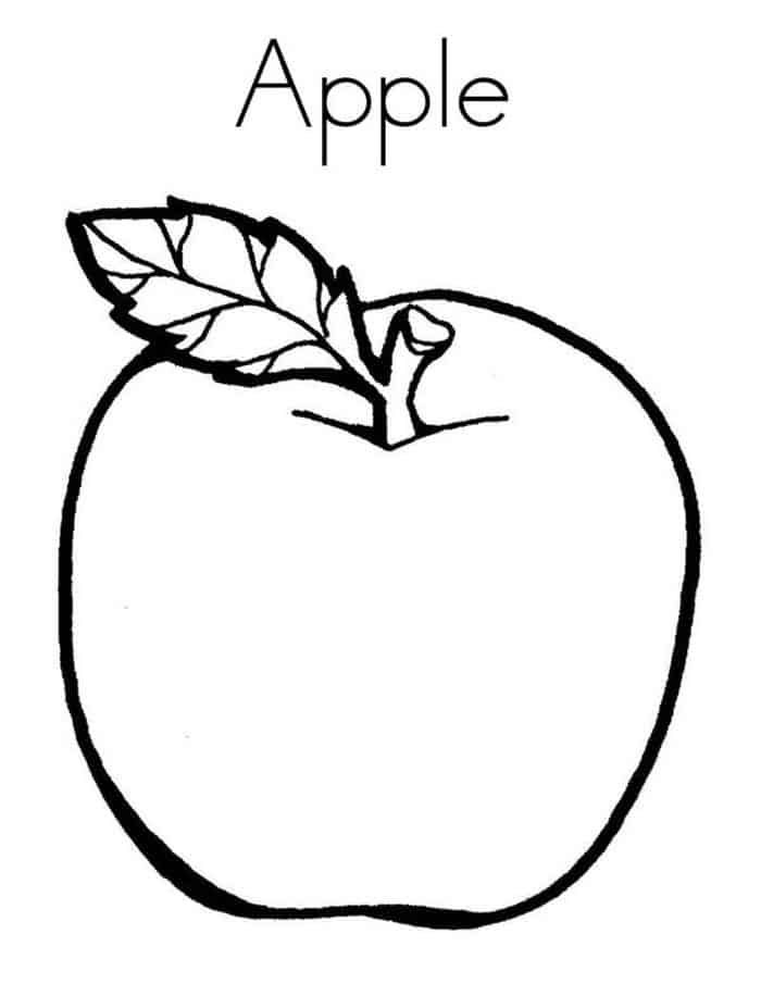 Free Apple Coloring Pages Apple Coloring Pages Coloring Pages For Kids Easy Coloring Pages