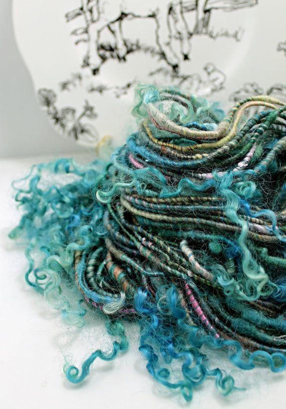 Handspun Art Yarn Corespun Sheeping Beauties by SheepingBeauty, $42.00