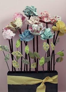 posy: Fabric Roses, Fabric Flowers, Tutorial, Fabrics, Craft Ideas, Diy, Stemmed Fabric, Crafts