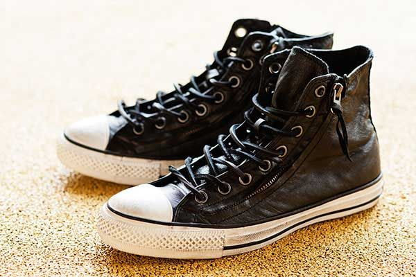 varatos converse leather zip high