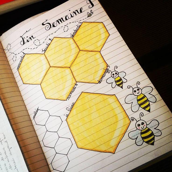 """4 mentions J'aime, 3 commentaires - Mallorie Dubois (@loko_mallo25) sur Instagram : """"Fin de semaine 9 et premiers jours de mars dans mon bullet avec une dédicace à nos abeilles.…"""""""