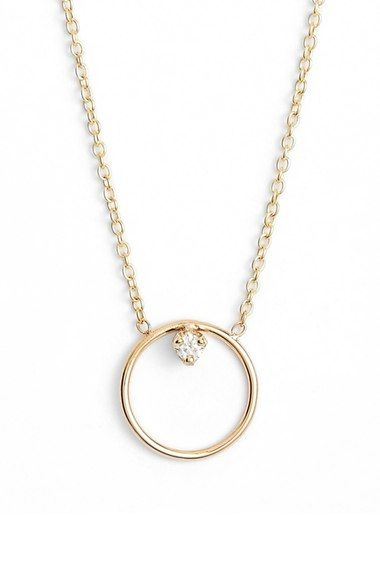 Zoë Chicco Diamond Circle Necklace available at #Nordstrom