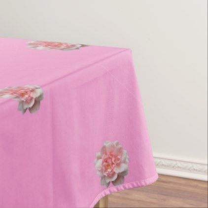Pink Roses on Pink Tablecloth - anniversary cyo diy gift idea presents party celebration