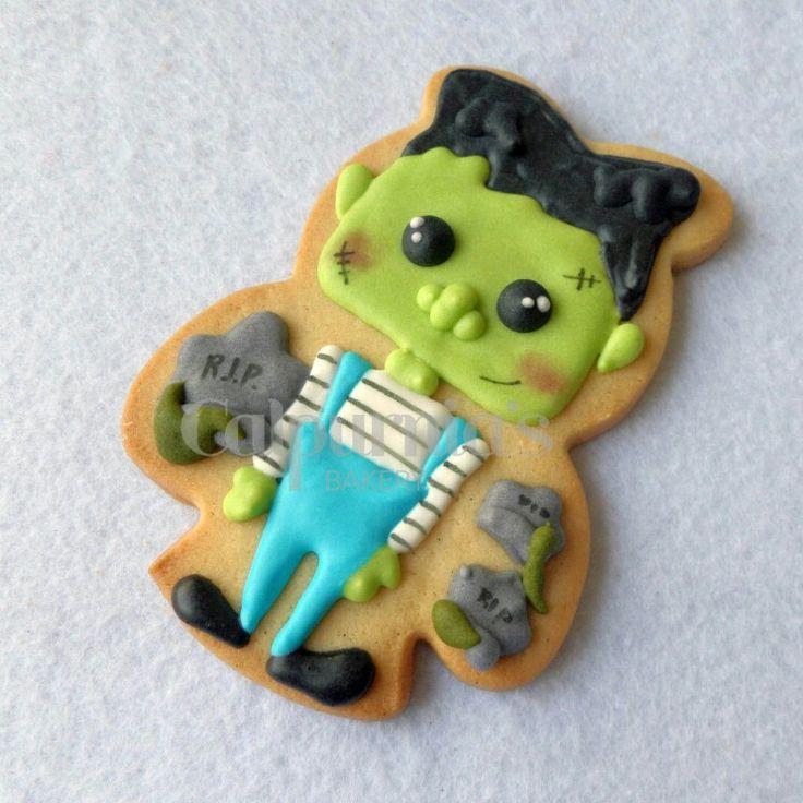 Frankenstein decorated cookie
