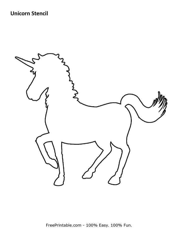 Ambitious image regarding free printable unicorn template