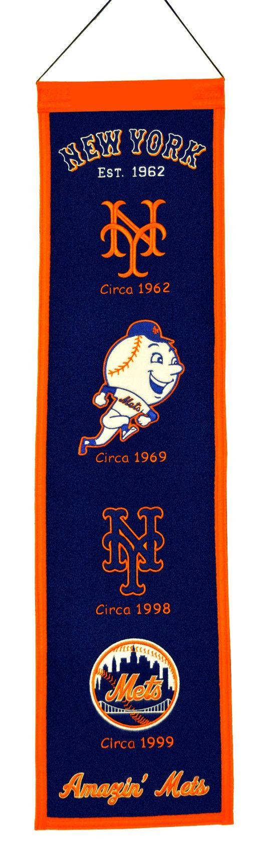 New York Mets Wool Heritage Banner   8x32