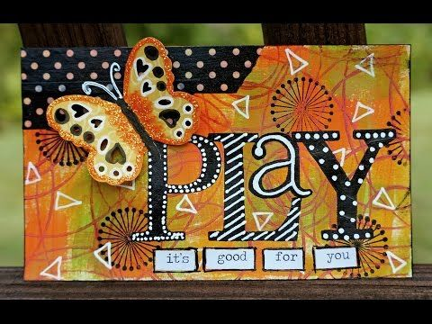 Mixed Media Index Card ICAD - PLAY + a quick tip! - YouTube
