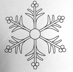 Snowflake Tutorial - cupcake decoration, do with royal icing