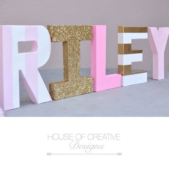 8 Letters in multi finishes set of 5 by HOCDesignsMarket on Etsy, $68.00