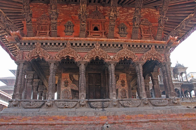 Durbar Square in Patan, Nepal is a UNESCO World Heritage Site containing many palaces, temples and monuments, some of which are still standing from the 12th Century.