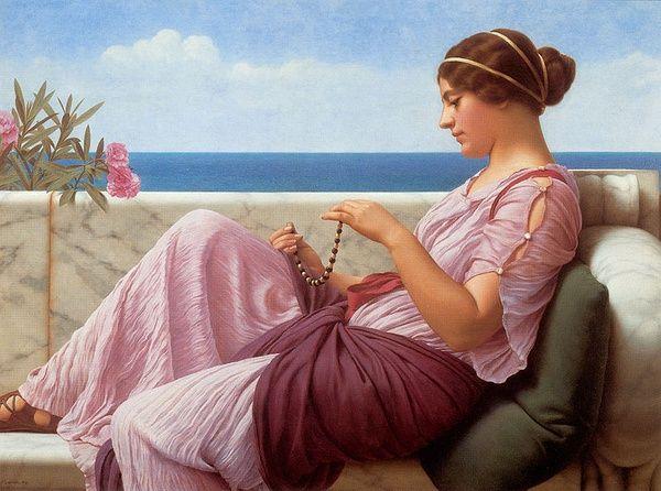 A Souvenir, 1920,John William Godward(1861-1922)