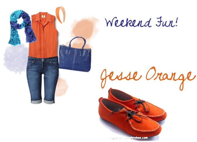 Hello, weekenders! Spice up your holiday with Wondershoe's Jesse Orange :D