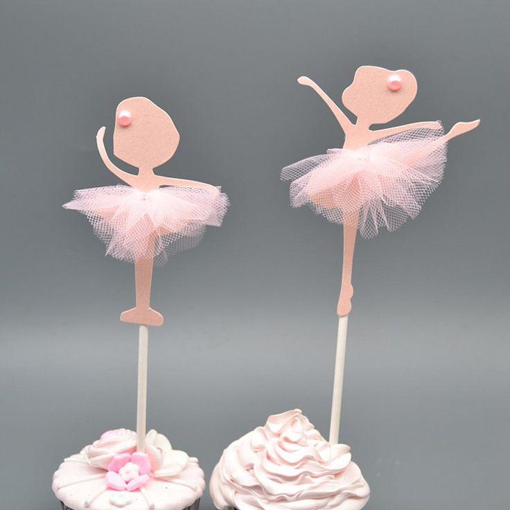 1 Pair Балерина Торт Топпер Свадьба День Рождения Украшение Партии Кекс Accessoies 043 411 купить на AliExpress