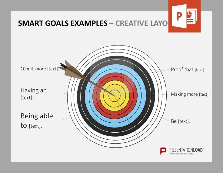 smart goals powerpoint templates: targets are great to picture, Modern powerpoint