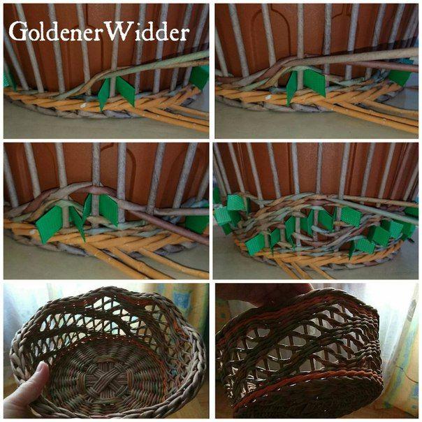 Плетение из бумажной лозы   Тарасенко Виктория  