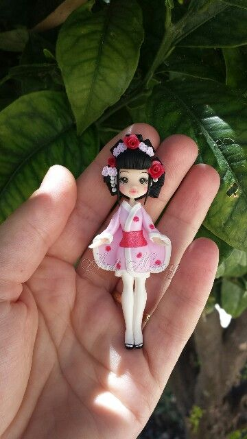 Japonese in fimo, polymer clay