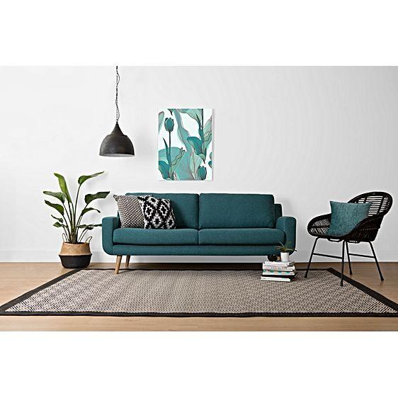 Tomas London Teal 2 Seater Sofa by Zanui