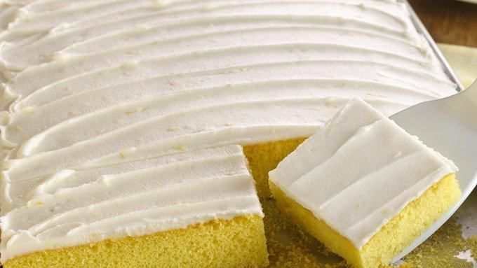 Lemon Buttermilk Cake.   Lemon juice and peel in the frosting impart even more refreshing flavor to a simple, yet satisfying cake.