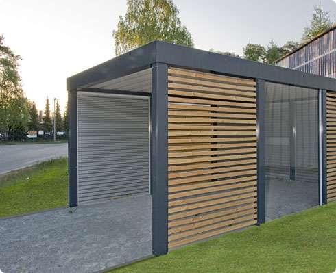 carport en acier et bois chenois garden pinterest. Black Bedroom Furniture Sets. Home Design Ideas