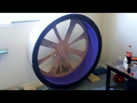 DIY Cat exercise wheel/ Cat wheel on a budget. Link download: http://www.getlinkyoutube.com/watch?v=LEdnCGfoHkM