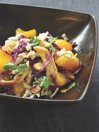 Chinese Chicken Salad II   Chinese chicken salad is one of the world's ultimate fusion foods. It's an Eastern-inspired dish popularized by an Austrian chef (Wolfgang Puck) in Beverly Hills (at his restaurant Spago back in the 1980s). Whatever its disparate origins, it's undeniably one of the most popular--and ubiquitous--salads in America, sharing space on menus in four-star restaurants and Wendy's alike. Too bad most vers