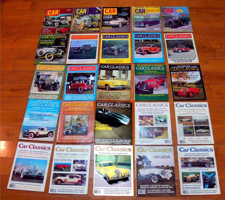 Vintage car magazines-car classics magazine lot-1970's car magazines-antique cars-muscle car-hot rod magazines-chevy ford dodge by BECKSRELICS on Etsy