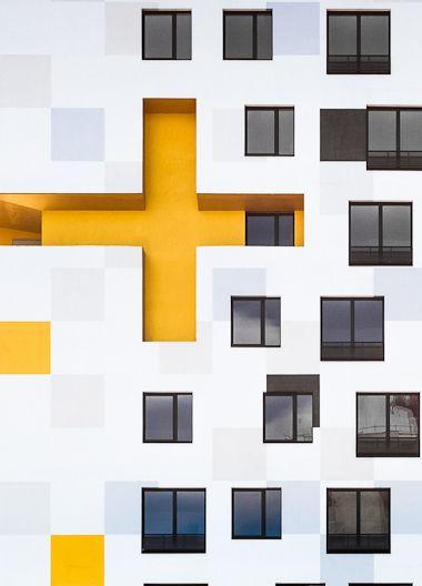 windowsArchitecture Buildings, Architecture Architecture, Yellow Architecture, Modern Architecture, Modern Buildings, Architecture Ideas, Hospitals Facades, Hospitals Architecture, Architecture Design